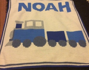 Baby boy blanket made to order