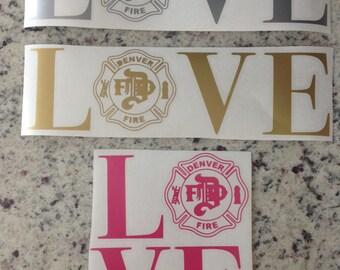 LOVE Denver Fire decals / stickers