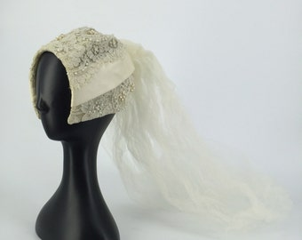 1940s Veil and hat