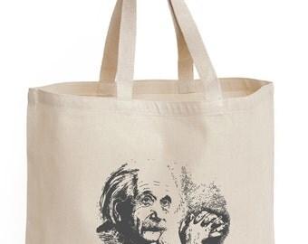 YUGEN Einstein Canvas Tote Bag