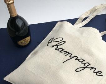 "Tote bag ""Champagne"""