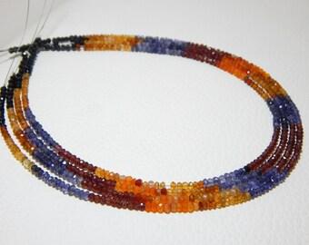 Multi Gemstone Faceted Rondelle Beads Stone - Spinel Garnet Carnelian Citrine Iolite - Mix Gems beads Code - 0251