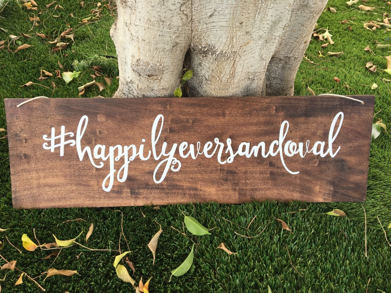 wedding hashtag wood sign wedding decor wedding hashtag
