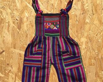 UNISEX BABY OVERALLS, handmade, mexican folk art, mayan, hippy, overalls unisex baby clothes, unisex baby gifts, unisex baby clothing