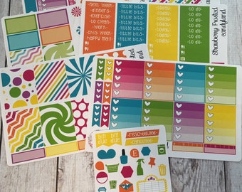CandyLand---- Weekly Planner Kit ---- {Includes 210+ Stickers}