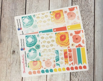 Bloom Themed Planner Stickers -- Made to fit Vertical Layout