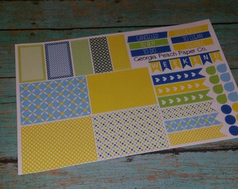 Lemon Themed Planner Stickers - Made to fit Vertical Layout