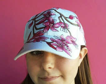 Hat, Cherry Blossoms Ball Cap