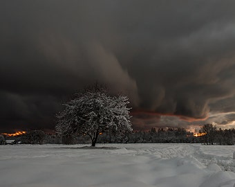 Winter storm cloud