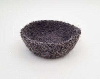 Felted Bowl - Charcoal Medium