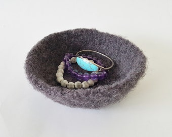 Felted Bowl - Charcoal Large