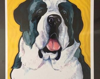 Saint Bernard Original Dog Portrait