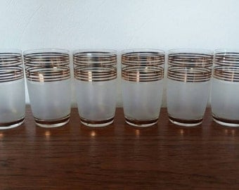 Vintages Glass Tumblers 1950s (set of 6)
