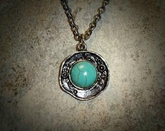 Antiqued Turquoise Pendant