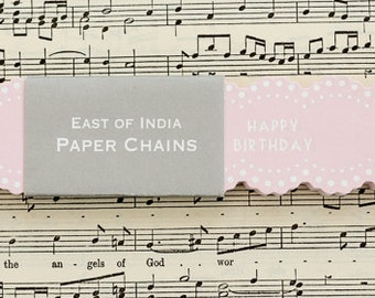 Happy Birthday Paper Chain