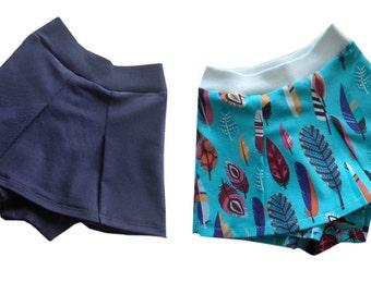 LISIA skorts, sizes 110-152 (5-12yr) / INSTANT DOWNLOAD