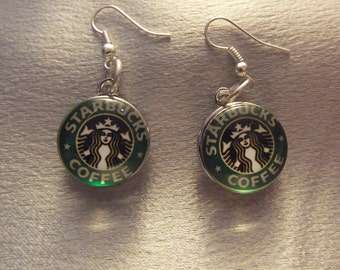 Starbucks Green Snap Jewelry Earrings, Gift for Her, Gift for Girlfriend, Birthday for Her
