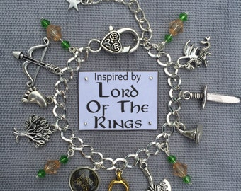 Handmade Lord of the Rings Inspired Charm Bracelet