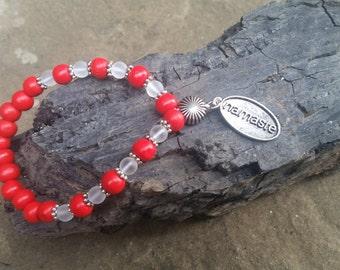 Clear Quartz 27 Bead Mala Bracelet
