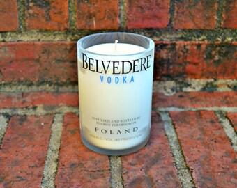 Belvedere Vodka Bottle Candle