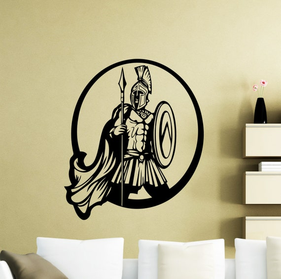 Gladiator wall decal rome warrior cartoon movie vinyl sticker for Wall stickers roma