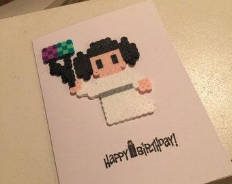 Custom Perler Birthday cards.
