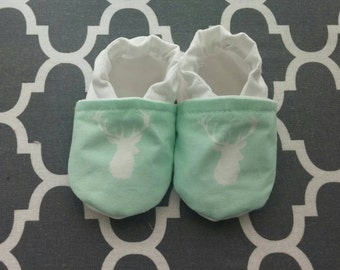 Antlers soft sole Itty Bitty baby shoes