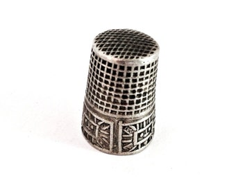 Antique Silver Sewing Thimble Marked .800 c1940s