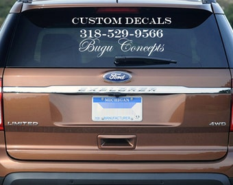Business Etsy - Custom car decals for business   how to personalize