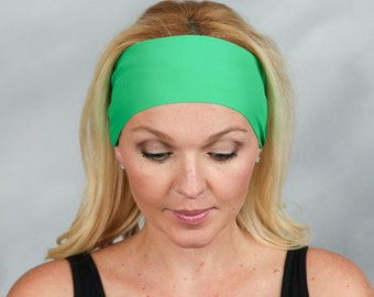 Yoga Headband-Running Headband-Workout Headband-Fitness Headband-Bohemian Headband-Women Head Wrap-Bandana Headband-Kelly Green
