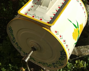 Rare Vintage Handpainted Butter Churn