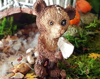 Miniature Scare Bear with Axe