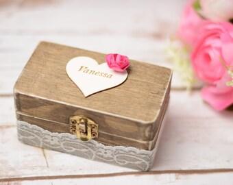 Bridesmaid Gift Box Keepsake Box Wooden Box Bridal Party Gift Box Keepsake Bridal Party Favors Rustic Wedding