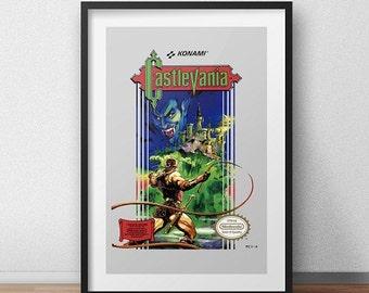 Castlevania Original NES Box print