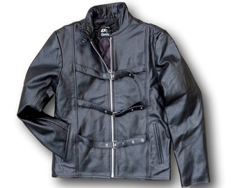 Steampunk Buffalo Leather Jacket