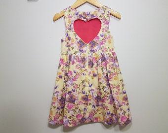 SOPHIA Heart Cut-out dress size 4
