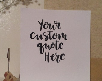 Custom Quotes