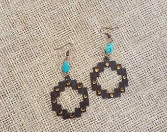 Handmade earrings - cross earrings