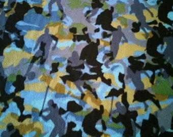 Multi-Sport(Soccer, Baseball, Basketball)Fleece Fabric (By The Yard)