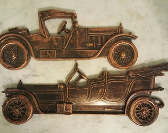 Coppercraft guild Vintage Automobile Wall Plaques