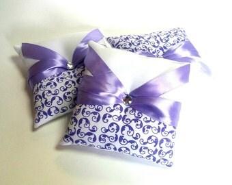 Ring pillow wedding wedding purple