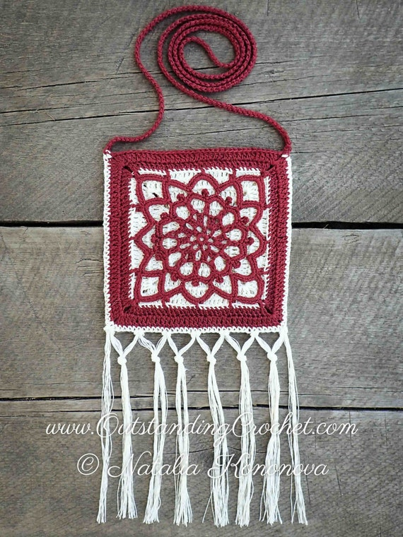 Crochet Crossbody Bag Pattern : Crochet Bag Pattern - Crochet Purse Pattern - Crossbody Small Phone ...