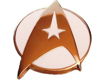 Star Trek Series Command Symbol Insignia with White Background Pin
