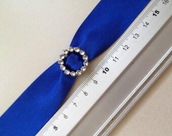 10 x Round acrylic Ribbon Slider