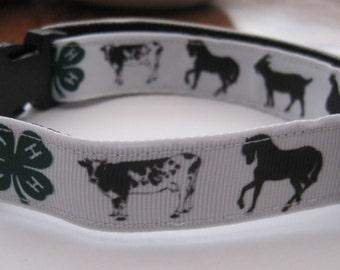 Dog collar farm animal or matching leash