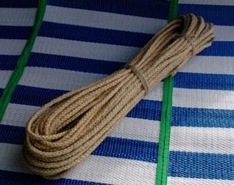 50feet.6mm// natural hemp rope/braided rope/DIY/home decor/garment accessory/gardening/shibari/kinbaku