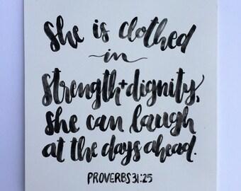 Proverbs 31:25-Print