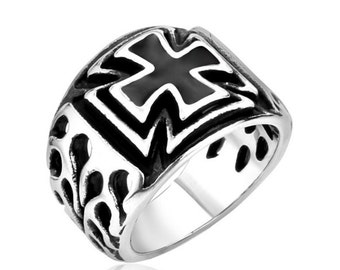 Cross ring stainless steel 316L for him and her (FA-042)