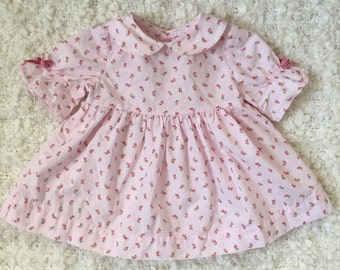Vintage Baby Girl Floral Dress (approx size 3-6 months)