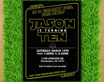 Star Wars Invitation - Star Wars Party Invitation - Star Wars Birthday Party Invite - Star Wars Party Printable - Darth Vader Invitation